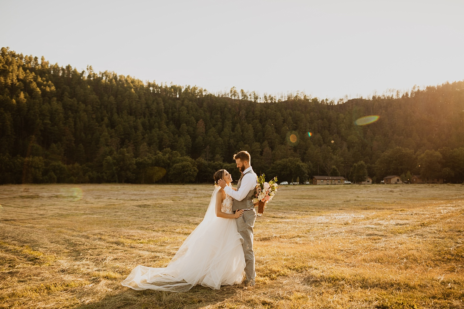 Bride and Groom Portrait | Sunset Picture | Custer State Park | Cassie Madden Photography