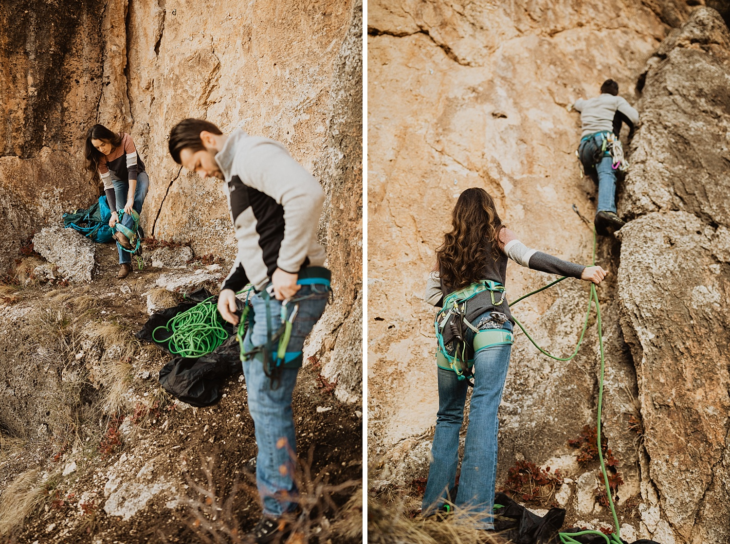 Wyoming Engagement Session | Rock Climbing | Unique Engagement Photos | Epic Engagement Pictures | Cassie Madden Photography