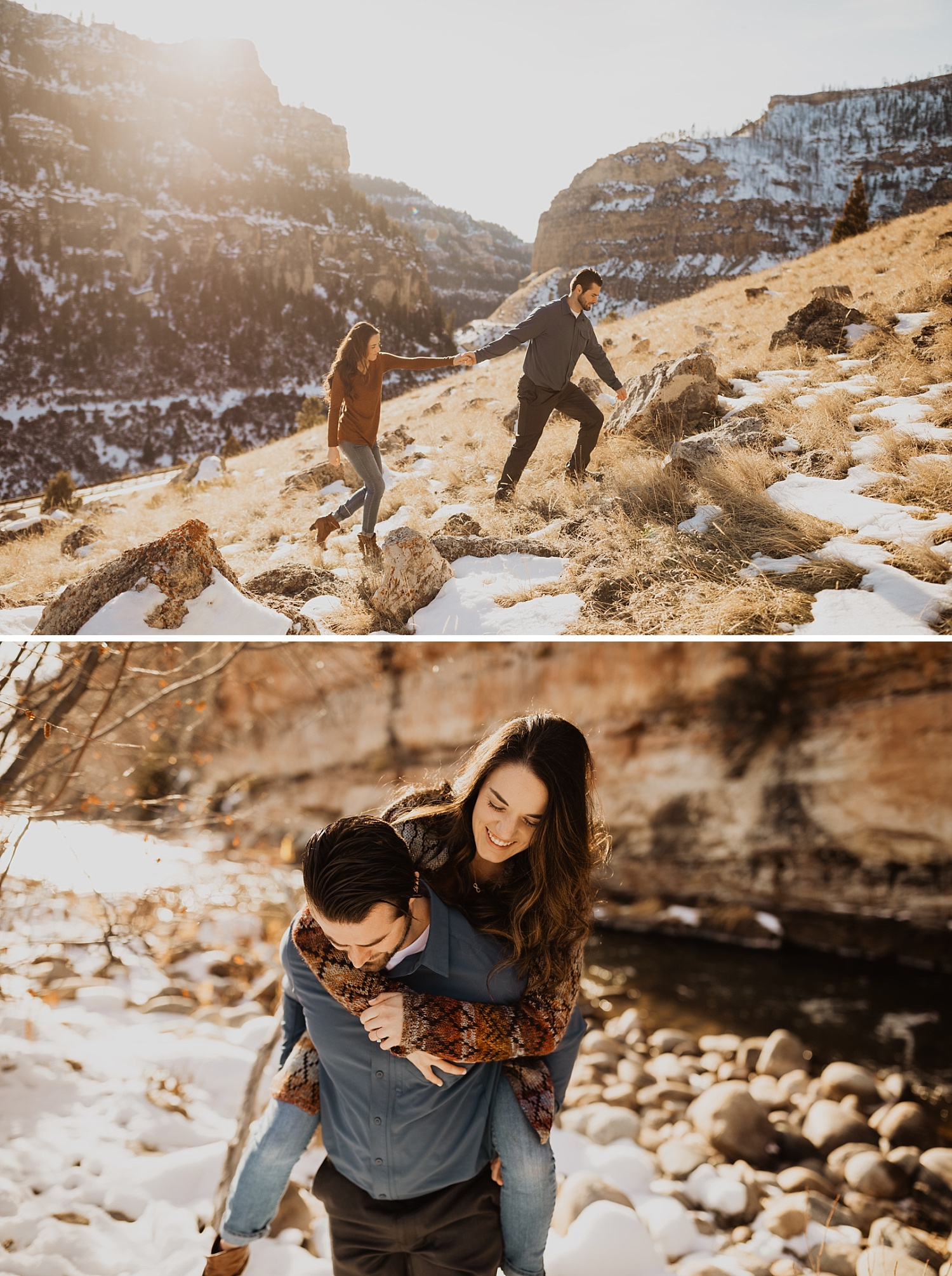 Winter Engagement Photos | Wyoming Engagement Session | Big Horn Mountains | Cassie Madden Photography