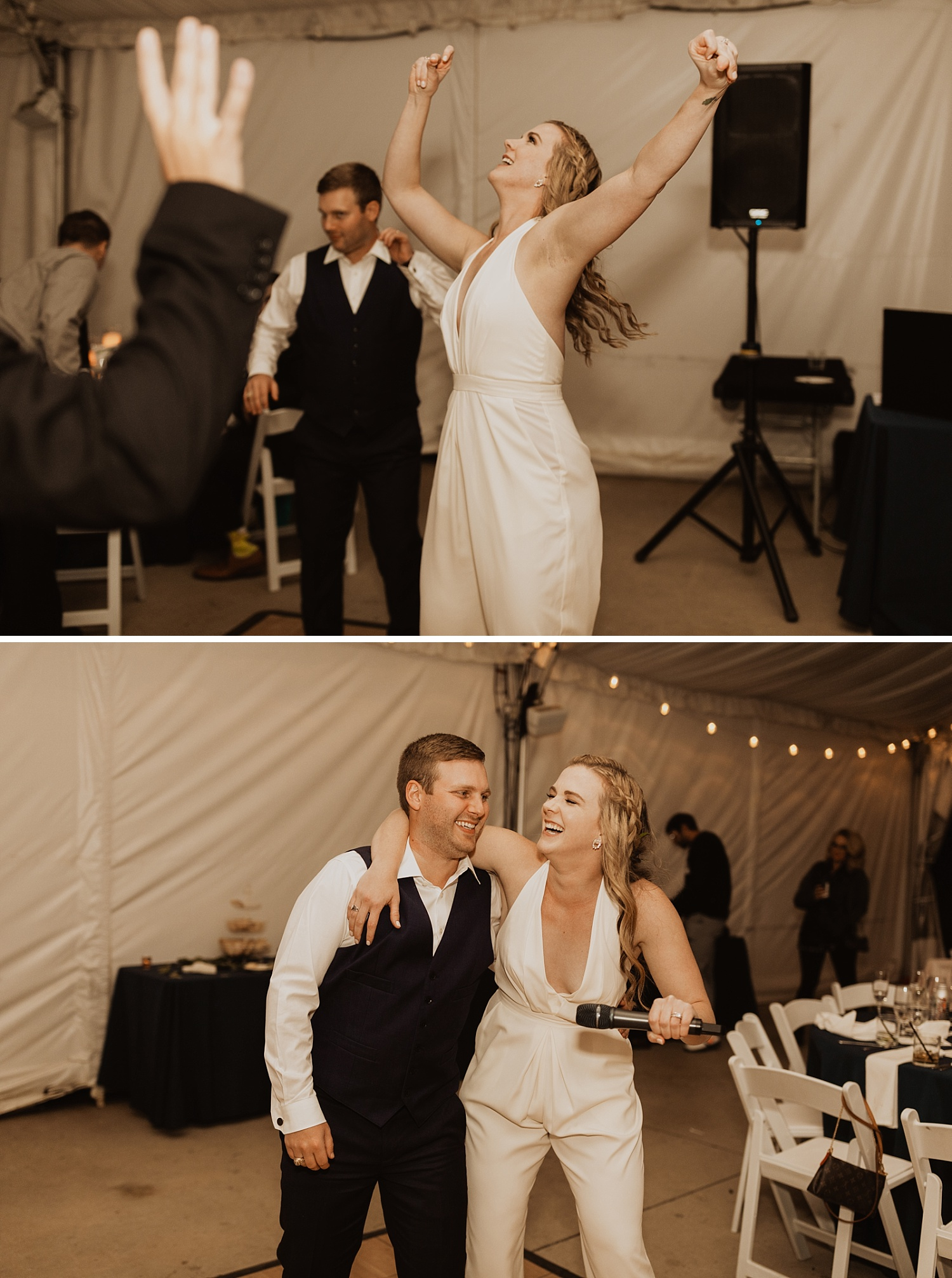 Colorado Wedding | Bridal Jumpsuit | Dance Party | Cassie Madden Photography