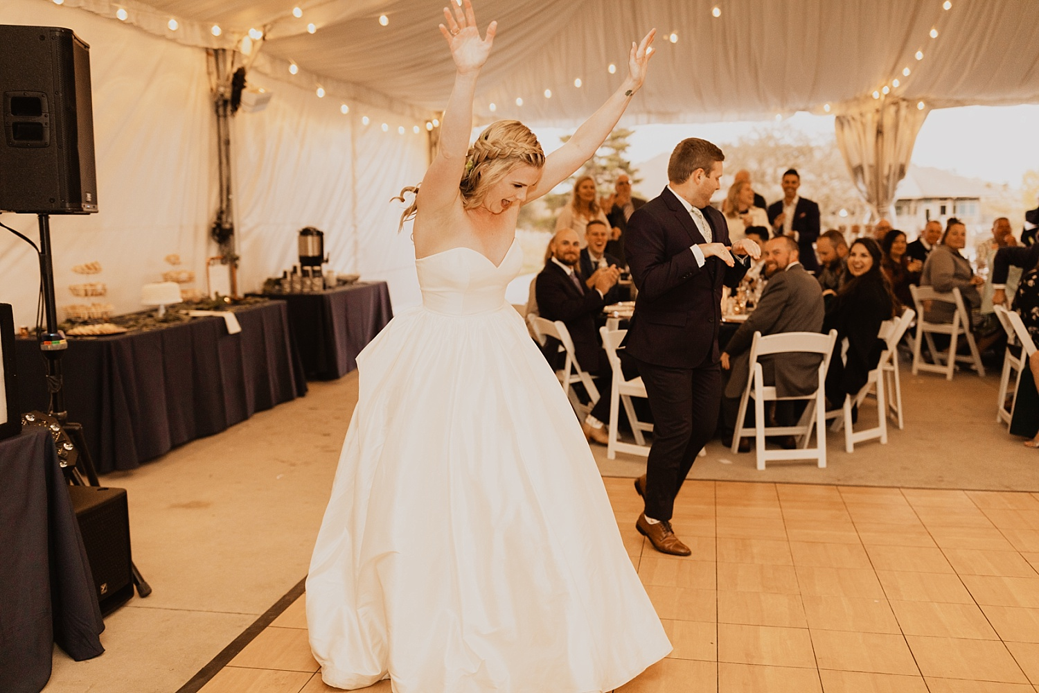 Colorado Wedding | First Dance | Tent Reception | Cassie Madden Photography