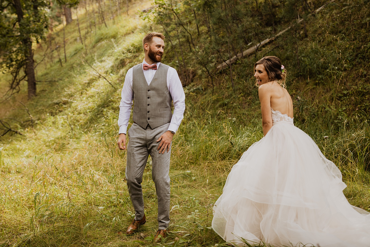 South Dakota Wedding | Black Hills | First Look | Cassie Madden Photography