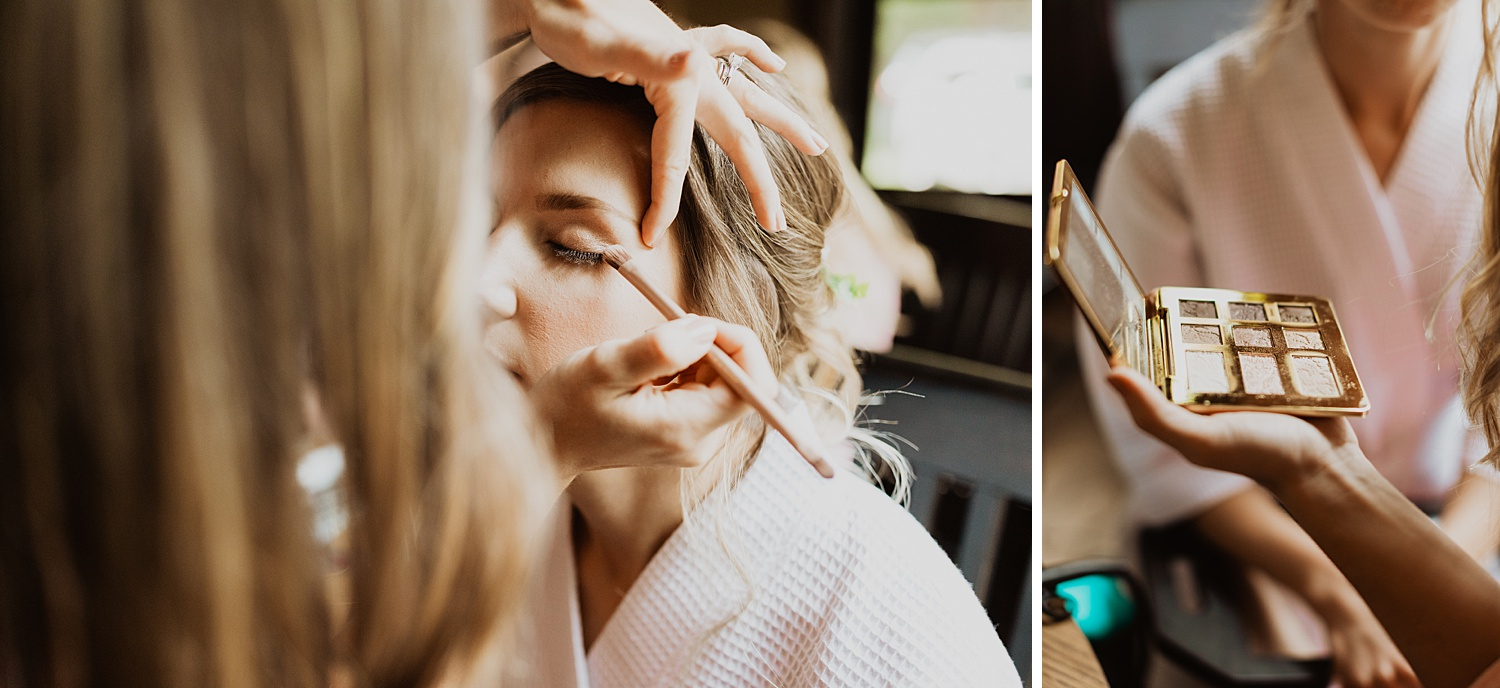 South Dakota Wedding   Getting Ready Pictures   Bridal Makeup   Cassie Madden Photography