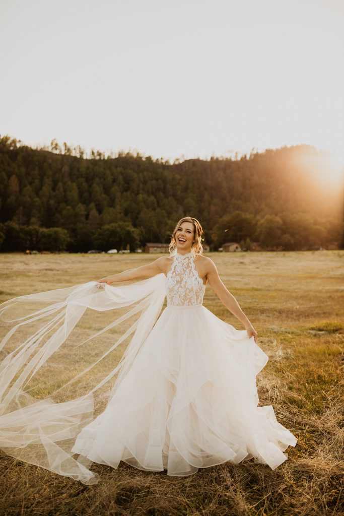 Emma & Grace Tulle Ballgown | Black Hills Wedding Portraits | Sunset Bridal Pictures | Cassie Madden Photography