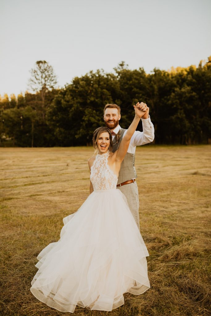 Emma & Grace Tulle Ballgown | Black Hills Wedding Portraits | Sunset Bridal Pictures | Fun Wedding Pictures | Cassie Madden Photography