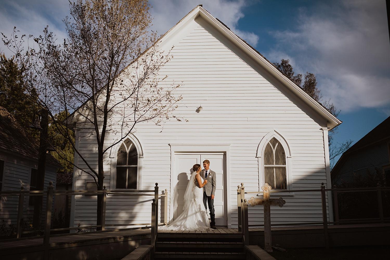 Overland Trail Museum || October Wedding Inspiration || White Church Wedding | Cassie Madden Photography