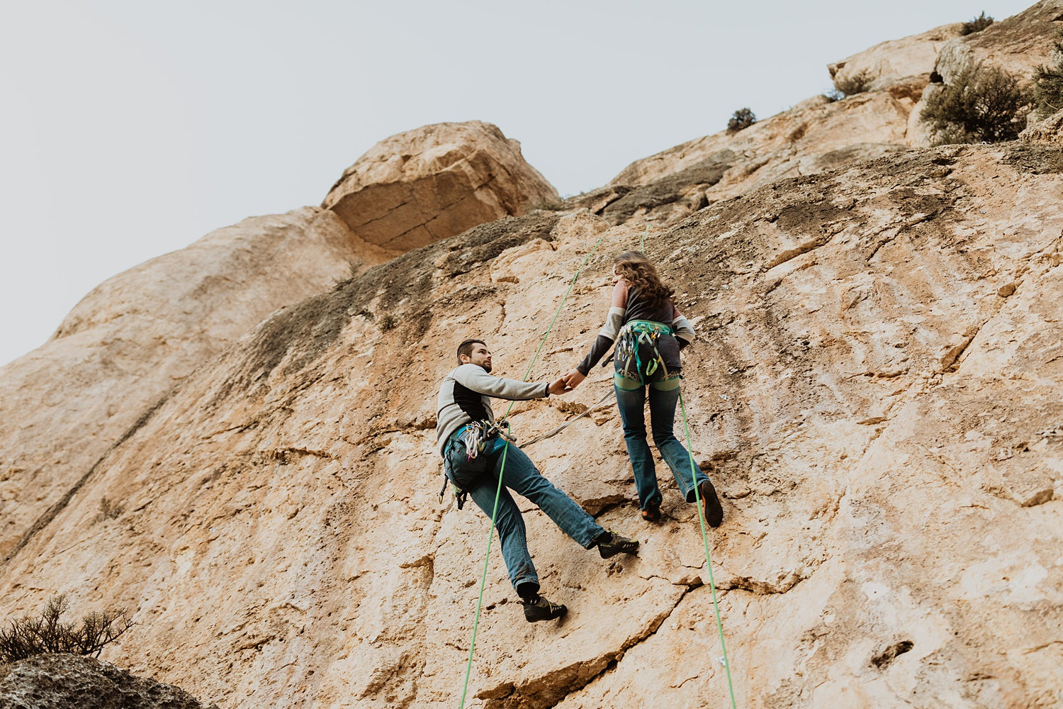 Wyoming Engagement Session | Rock Climbing | Unique Engagement Photos | Cassie Madden Photography